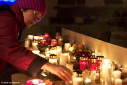 Gedenken vor der Frauenkirche