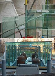 Glas-Rahmenecke