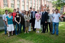 Doppeldiplom-Studenten und die französische Delegation