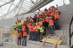 Teilnehmer der Stahlbauexkursion