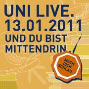 Uni live am 13. Januar